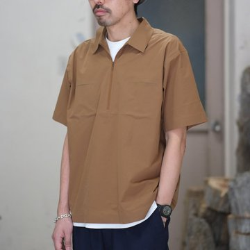 【30% off SALE】【2018 SS】 DESCENTE PAUSE(デサント ポーズ)/ HALF ZIP P/O SHIRT -MBRN- DLMLJC20