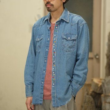 7 × 7 / seven by seven ( セブン バイ セブン )   REWORK WESTERN SHIRTS -SUN BLEACH-