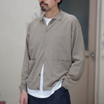 【2018 SS】crepuscule(クレプスキュール) Knit Shirt  -Gray Beige- #1801-005