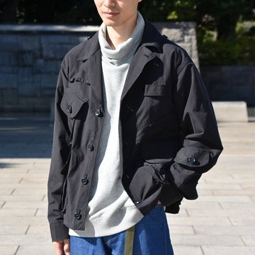 South2 West8(サウスツーウエストエイト) TENKARA SHIRT WAX COATING -NAVY-  #DI782