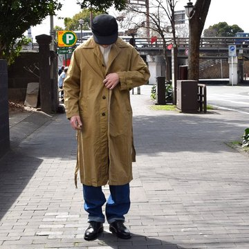 HTS(エイチ ティー エス)/ COTTON TWIL OVER COAT -(8410)KHAKI- #H13-1801000