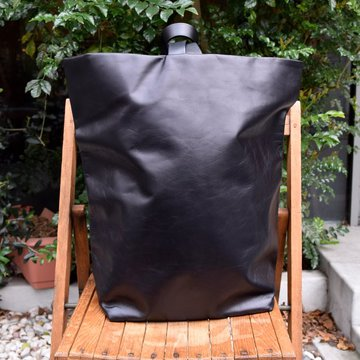 Aeta (アエタ) COW KIP LEATHER RUCK SACK-BLACK-#LE04