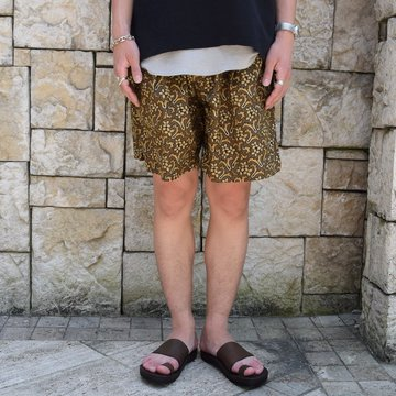【30% off sale 】KAPTAIN SUNSHINE (キャプテンサンシャイン)/Athletic Wide Shorts -DARK OLIVE- #KS9SPT15