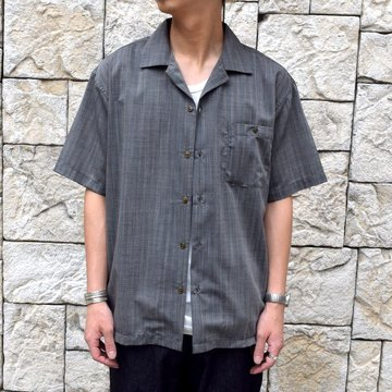 【2019 SS】BROWN by 2-tacs (ブラウンバイツータックス)  OPEN COLLAR SHIRTS-GRAY- #B21-S002