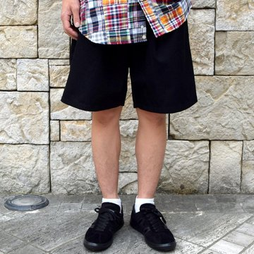 is-ness(イズネス)/ AH WIDE PANTS -BLACK-