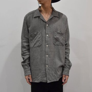 【2019 AW】 MOJITO(モヒート)/ ABSHINTH SHIRT Bar.2.0 -HOUNDS TOOTH (09)- #2094-1101