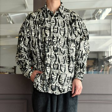 【2019 AW】AiE(エーアイイー) PAINTER SHIRT-ABSTRACT PRINT- FK469