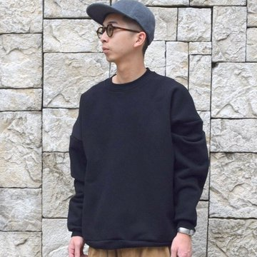 【30% off sale】is-ness(イズネス)/FEELING GOOD CREW NECK SWEATSHIRT 31AWCS01-BK