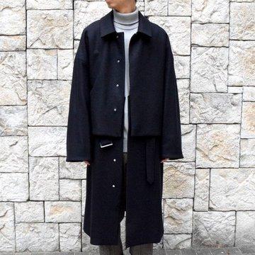 YOKE(ヨーク)/3WAY BAL COLLAR SHARE COAT -DARK NAVY- #YK19AW0049C