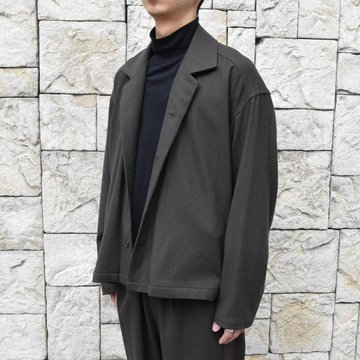 【19 AW】 yoke(ヨーク)/Wide Short Jacket -BROWN-#YK19AW0073B