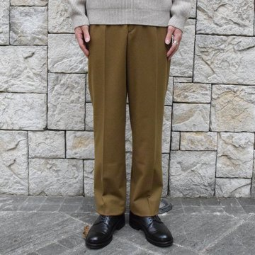 【30% off sale】AURALEE(オーラリー)/ SUPER SOFT WOOL FLANNEL SLACKS -KHAKI OLIVE- #A9AP03WF