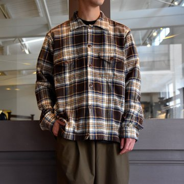 South2 West8(サウスツーウエストエイト) SMOKEY SHIRT-TWILL/PLAID #FK841