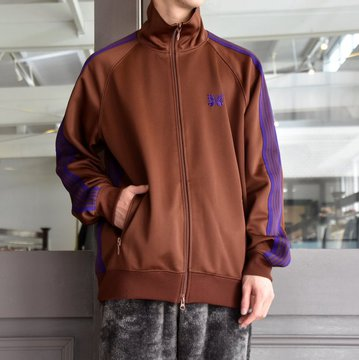 NEEDLES(ニードルス) TRACK JACKET-POLY SMOOTH-BROWN/#FK192