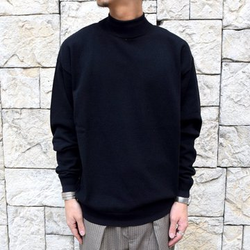 YOKE(ヨーク)/WOOL SABLE MOCK NECK L/S -BLACK- #YK19AW0075S