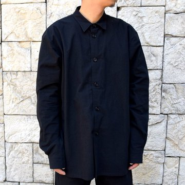 【2019 AW】MAN-TLE(マントル)/REGULAR SHIRT BIO WASH -BLACK- #M-R7S1