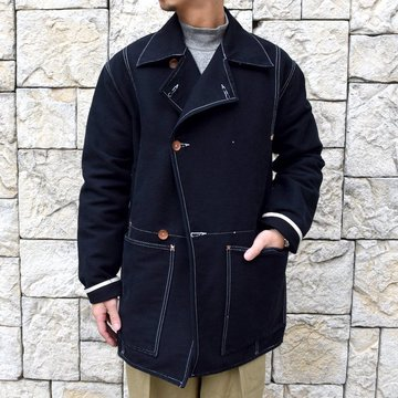 【30% off sale】TENDER Co.(テンダー)Type 962 COOK'S COAT -BLACK- #962