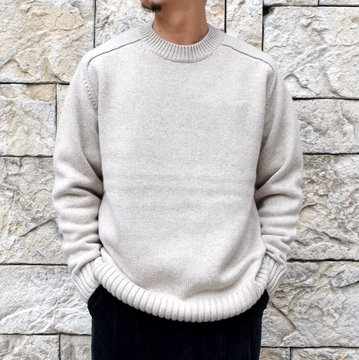 BATONER(バトナ—)/ HEAVY WEIGHT CASHMERE CREW NECK BN-19FL-044
