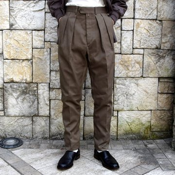 【2020 SS】NEAT(ニート)/ COTTON PIQUE ''TAPERED'' -KHAKI- #20-01CPT