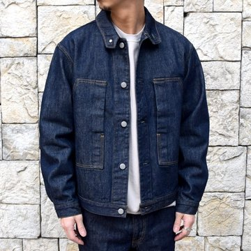 【2020 SS】 AURALEE(オーラリー)/ HARD TWIST DENIM  BLOUZON -INDIGO- #A20SB01DM