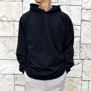 【2020 SS】AURALEE(オーラリー)/ SUPER SOFT SWEAT BIG P/O PARKA -BLACK- #A20SP01GU