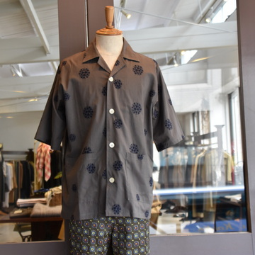 NEEDLES(ニードルス) Cabana Shirt-Cotton Cloth/Flower Dot Emb. #GL211