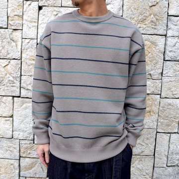 【2020 SS】crepuscule(クレプスキュール)/BORDER LONG SLEEVE TEE -GRAY- #2001-001-GR