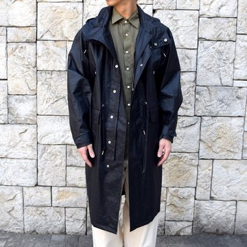 【2020 SS】YOKE(ヨーク)/ STAND COLLAR OVER COAT -BLACK- #YK20SS0082C