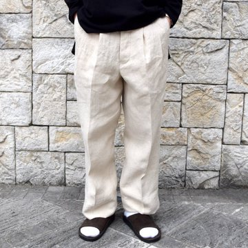【30% off sale】【2020】MAATEE&SONS(マーティーアンドサンズ)/ 2TUCK WORK TROUSERS WIDE -NATURAL- #MT0103-0207B
