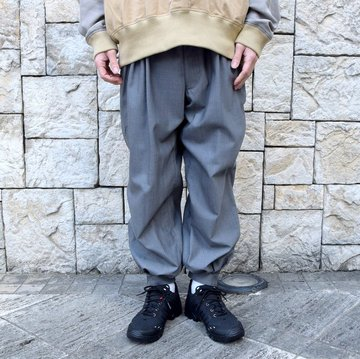 【2020 SS】HOMELESS TAILOR(ホームレステイラー)/CUFF PANTS #HTKS-008-GRST