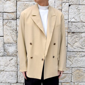 【2020 SS】YOKE(ヨーク)/ DOWNSIZING DOUBLE BREASTED JACKET -LIGHT BEIGE- #YK20SS0102J