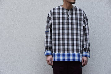 【2020SS】AiE(エーアイイー) LONG TUNIC-SHADOW PLAID- GL528
