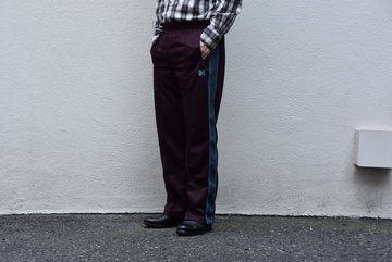 NEEDLES (ニードルス) TRACK PANT-POLY SMOTTH-BORDEUX/#GL216