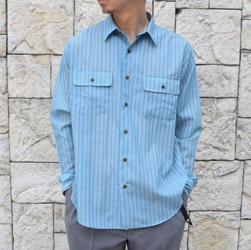 【2020 SS】BROWN by 2-tacs (ブラウンバイツータックス) REGULAR COLLAR -BLUE- #B23-S001