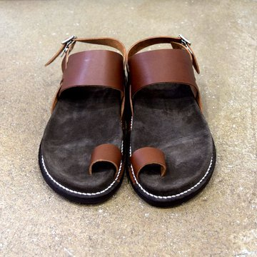 【2020 SS】KAPTAIN SUNSHINE × PHIGVEL / GURKHA FOOTBED SANDALS -BROWN- #KS20SGD06