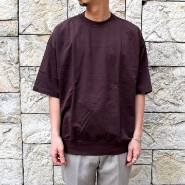 【2020 SS】AURALEE(オーラリー)/ SUPER HIGH GAUGE SWEAT BIG TEE -D.BROWN- #A20SP02NU