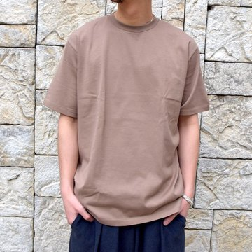 【2020 SS】AURALEE(オーラリー)/ LUSTER PLAITING TEE -L.BROWN- #A20ST02GT
