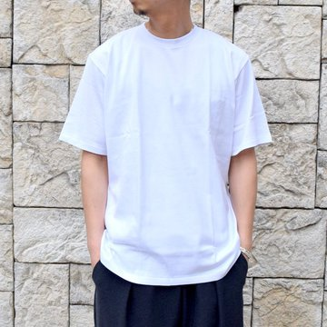 【2020 SS】AURALEE(オーラリー)/ LUSTER PLAITING TEE -WHITE- #A20ST02GT