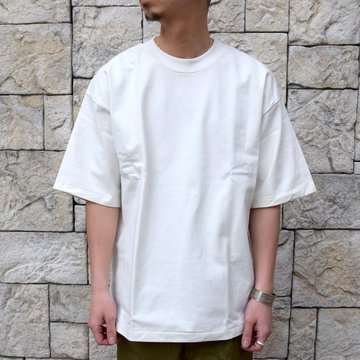 【2020 SS】AURALEE(オーラリー)/ STAND UP TEE -WHITE- #A20ST01SU