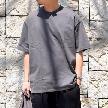 【2020】Graphpaper (グラフペーパー)/ Jersey S/S Tee -GRAY- #GM201-70148B