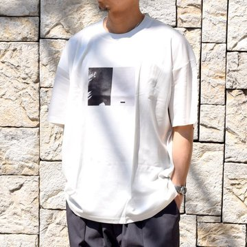 【2020】stein(シュタイン)/ PRINT TEE ''TO COMPLETE'' -WHITE- #ST154