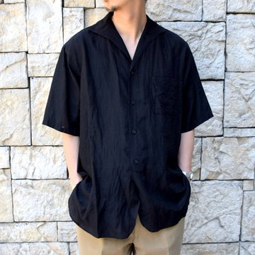 【2020】KAPTAIN SUNSHINE (キャプテンサンシャイン)/ RIVIERA S/S SHIRT -BLACK- #KS20SSH04