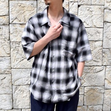 【30% off sale】【2020】holk (ホーク)/ WIDEOPEN SHIRT -BLACK- #HOLK-207