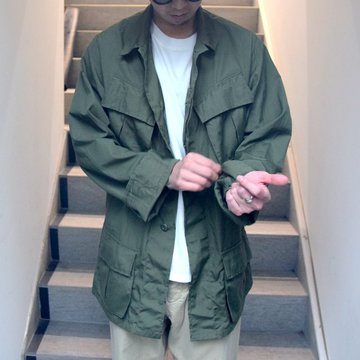 DEAD STOCK(デッドストック)/ 60s US ARMY ''JUNGLE FATIGUE JACKET'' 4th -OLIVE- #MILITARY265