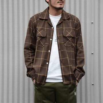 NEEDLES(ニードルス) C.O.B Classic Shirt -C/Pe/R Plaid Twill-BROWN #HM206