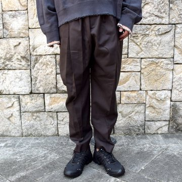 【2020】stein(シュタイン)/ WIDE TAPERED TROUSERS -C.BROWN- #ST178-1