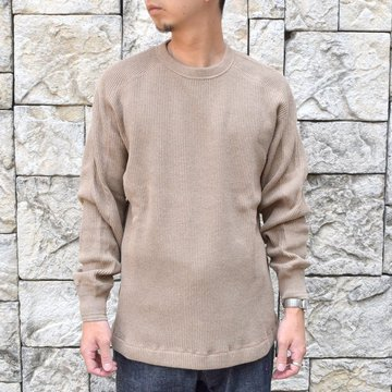 【2020】 A VONTADE(ア ボンタージ)/ BD WAFFLE Mil.Crew L/S -BROWN- #VTD-0545-CS