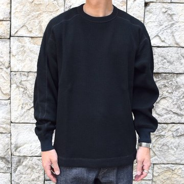 【2020】 A VONTADE(ア ボンタージ)/ BD WAFFLE Mil.Crew L/S -BLACK- #VTD-0545-CS