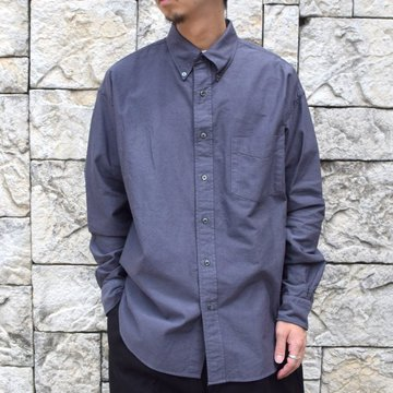 Graphpaper (グラフペーパー)/ OXFORD L/S B.D BOX SHIRT -GRAY- #GM203-50112B