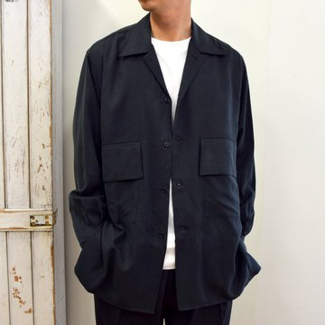 【2020】YOKE(ヨーク)/ BIG FLAP LONG SHIRTS -BLACK- #YK20AW0144SH