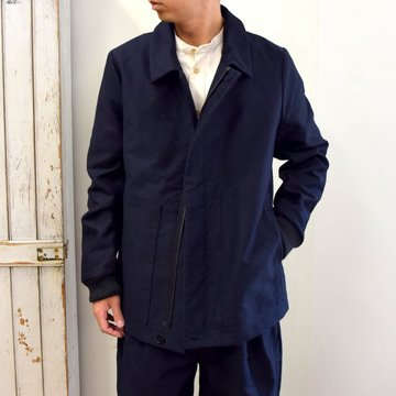 【2020】FRANK LEDER(フランクリーダー)/ MOLESKIN ZIP JACKET -NAVY- #0122044